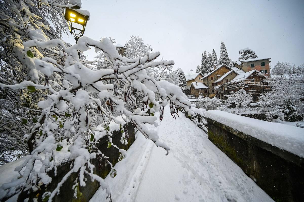 Neve in Italia |  Liguria imbiancata | FOTO