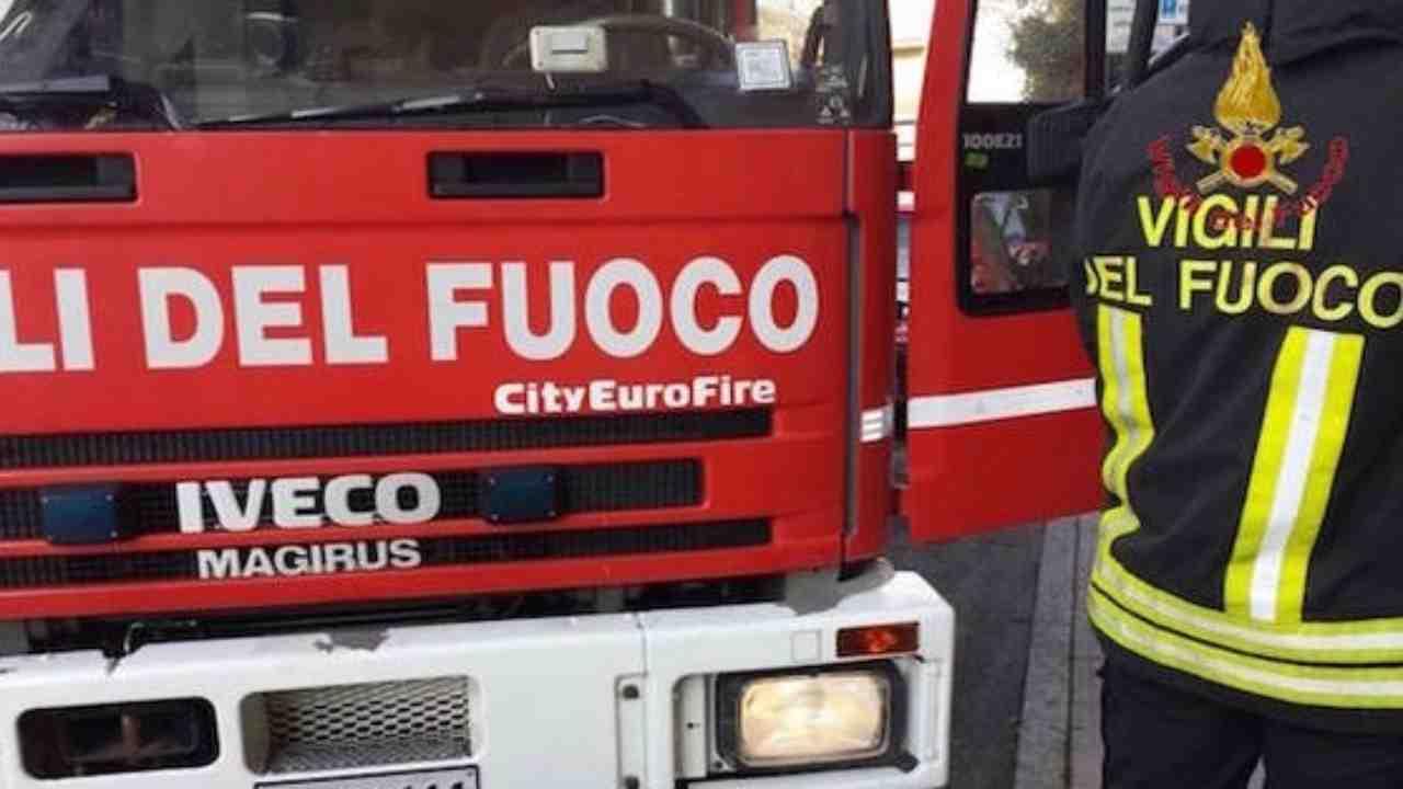 vigile del fuoco morto Sassari