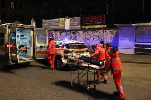 Ambulanza botti Capodanno