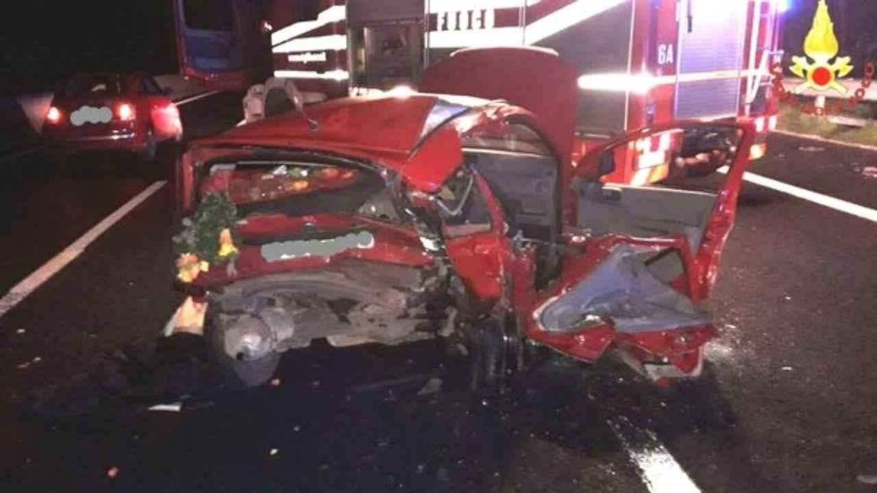 incidente stradale Valmontone morto