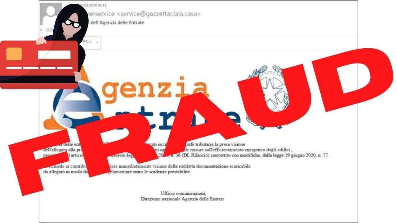 Phishing Agenzia delle Entrate