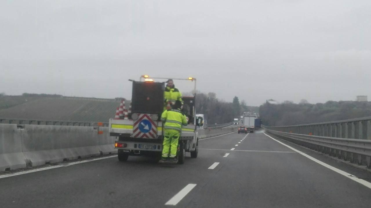 incidente in autostrada investito