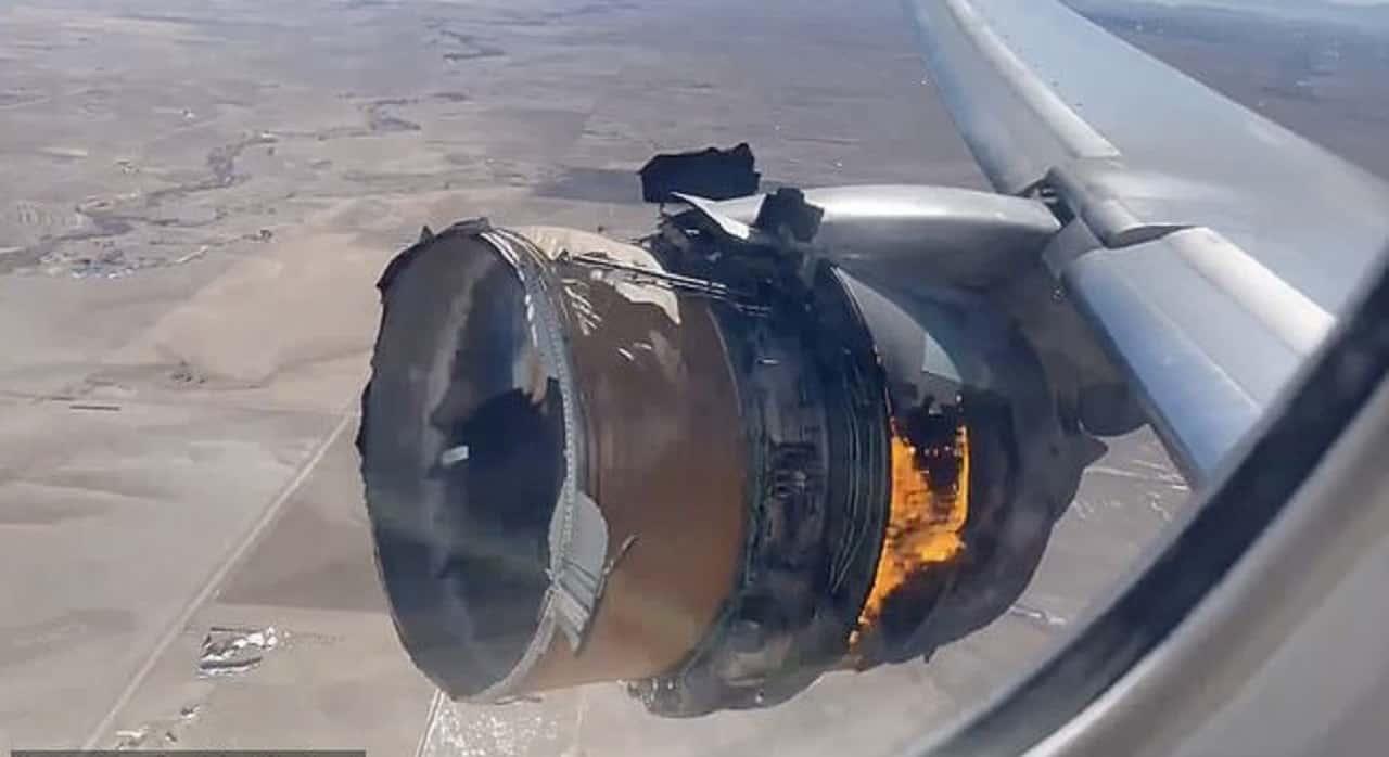 Motore in fiamme