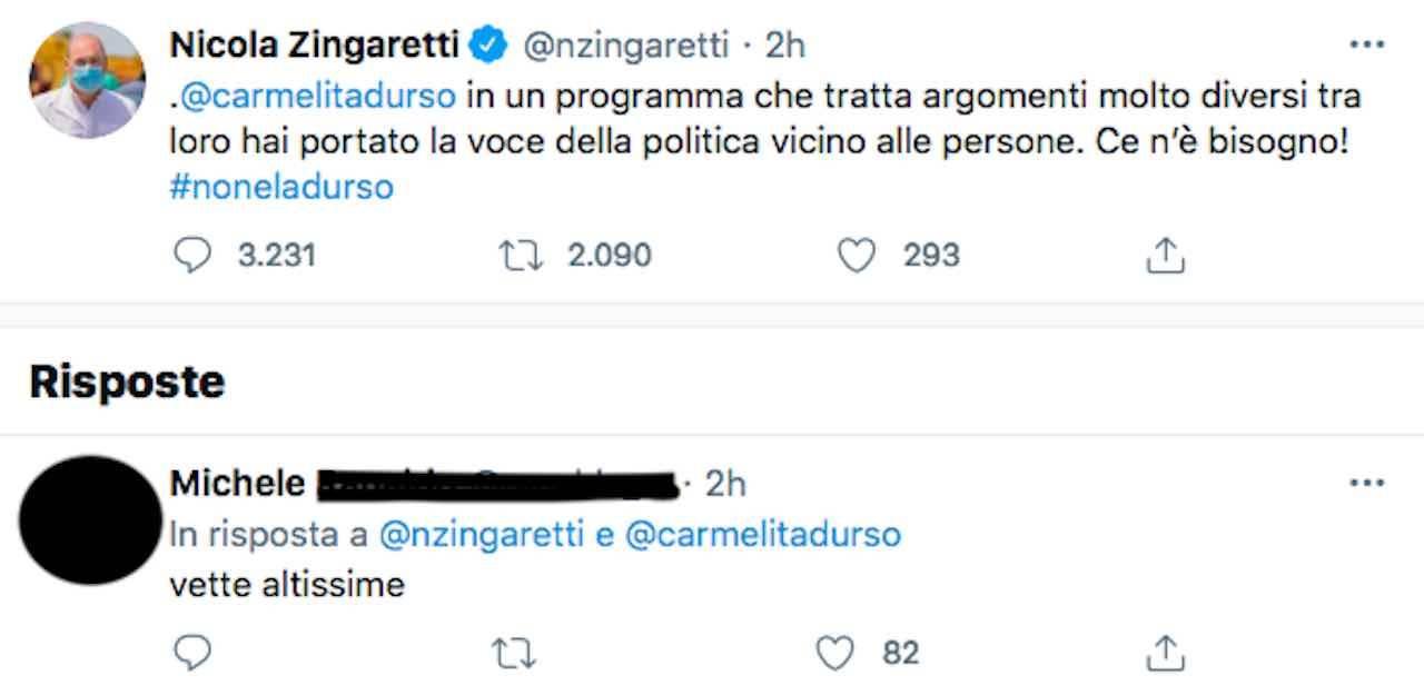 tweet Zingaretti