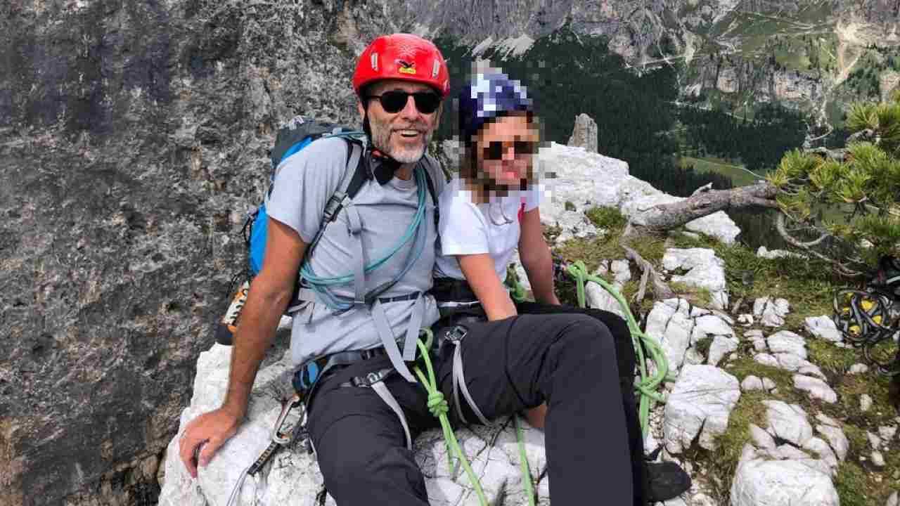Corrado Formigli e figlia