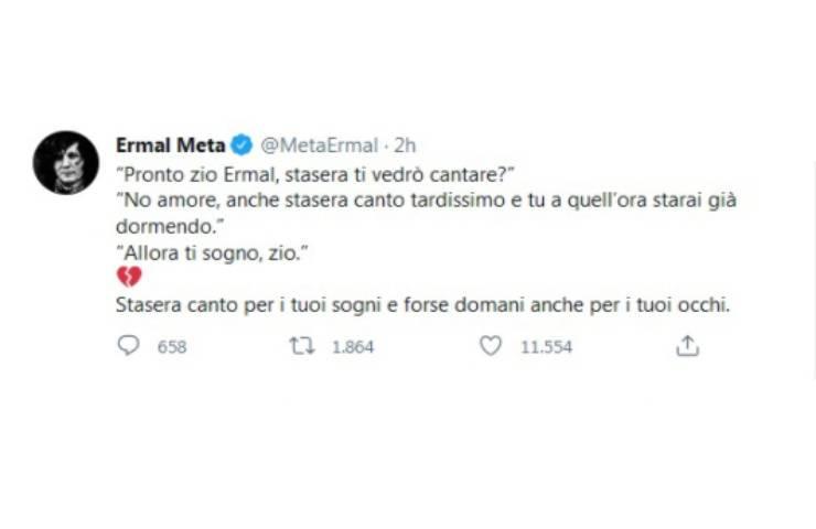 Ermal Meta nipote Sanremo
