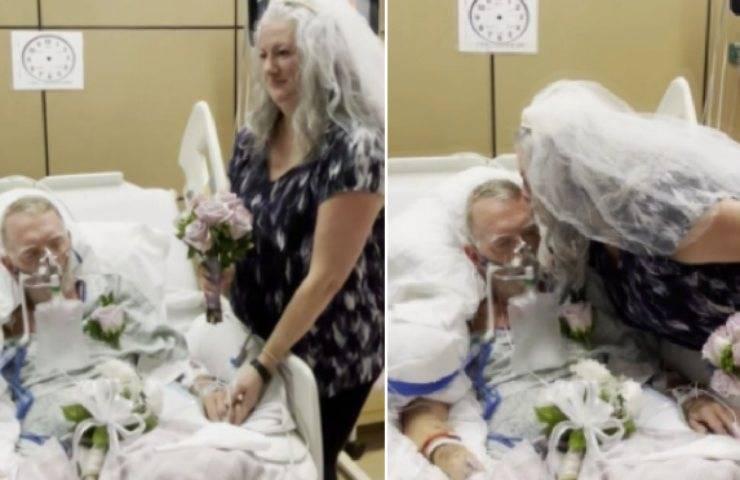 Malato di Covid si sposa prima di morire