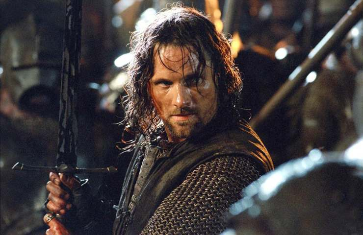 Viggo Mortensen come Aragorn