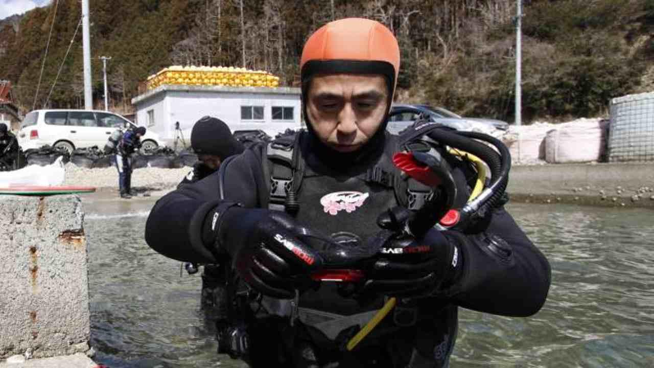 Yasuo Takamatsu immersioni moglie