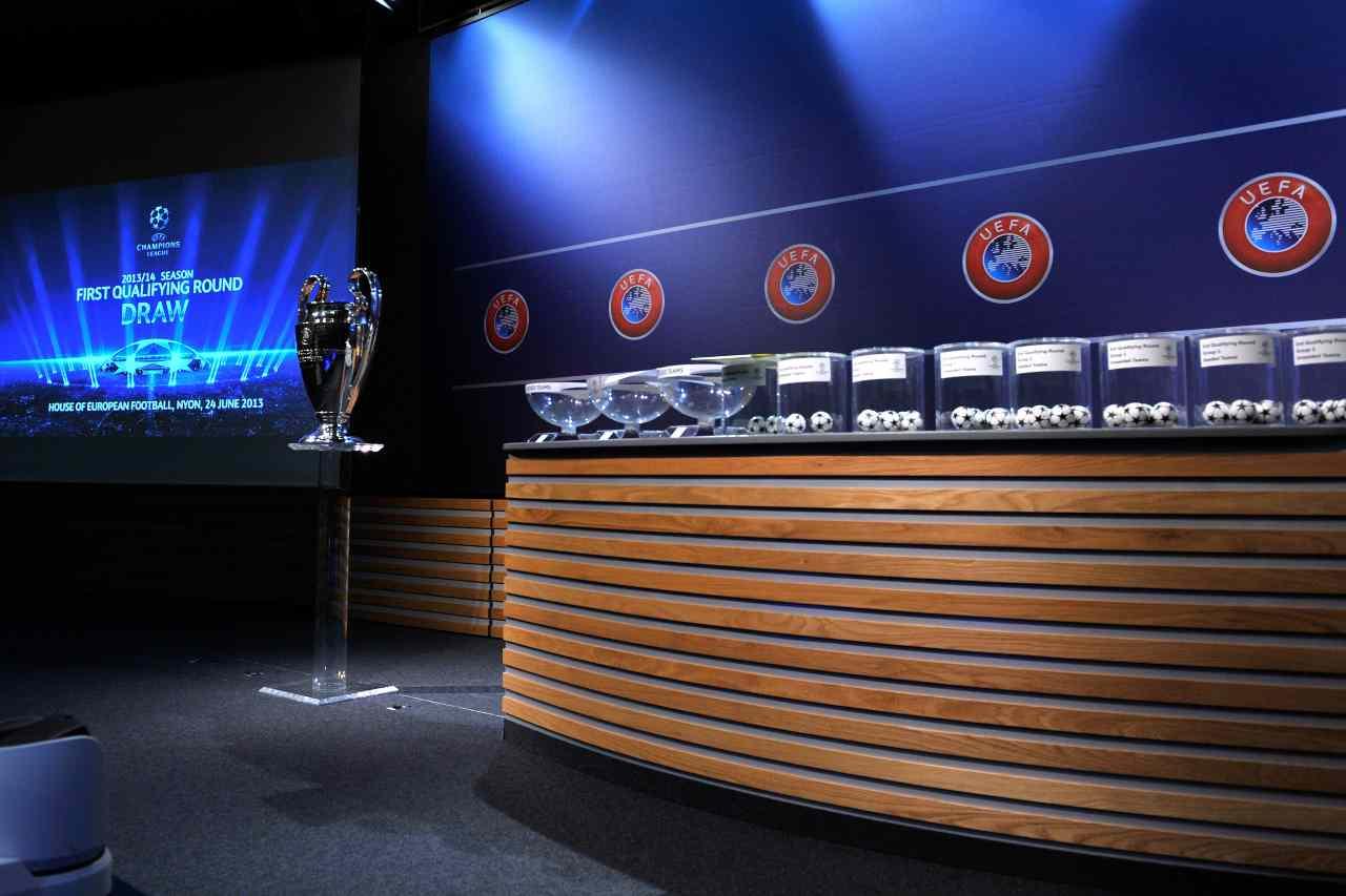 Champions sorteggio tv