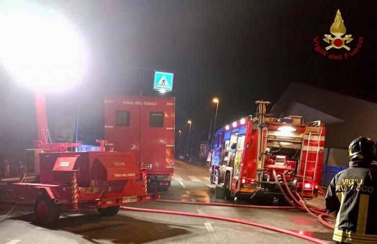 incendio in casa presso Prato
