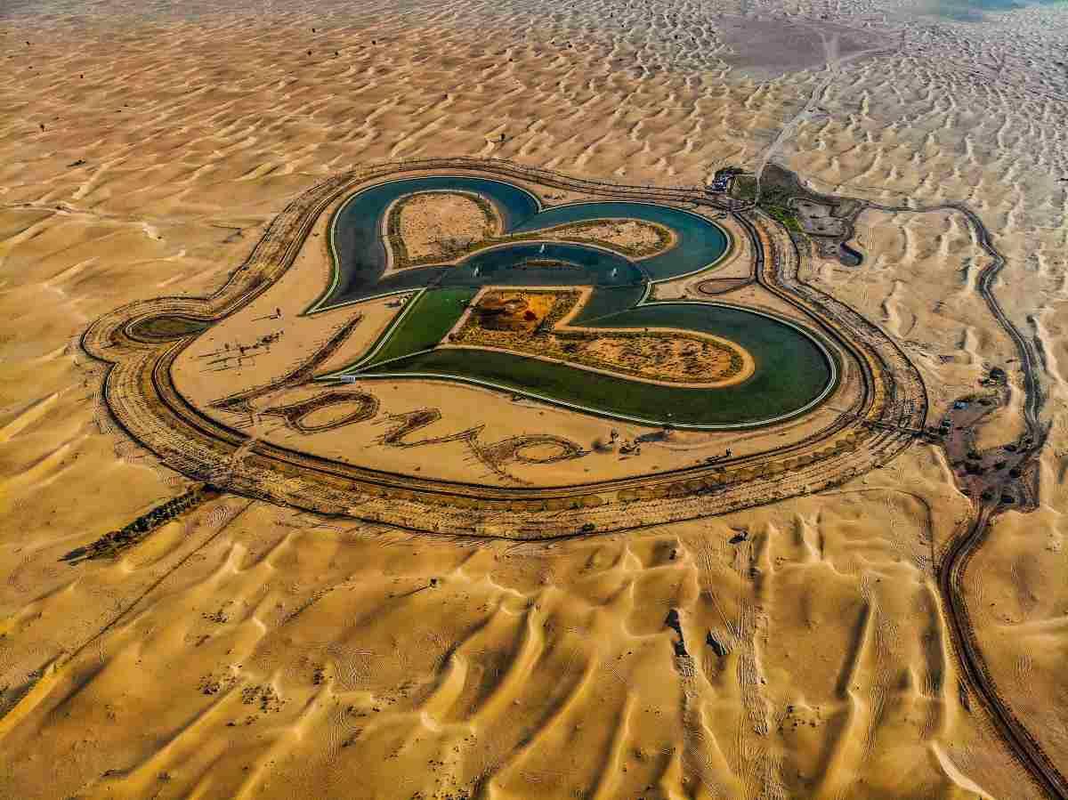laghi a forma di cuore Dubai