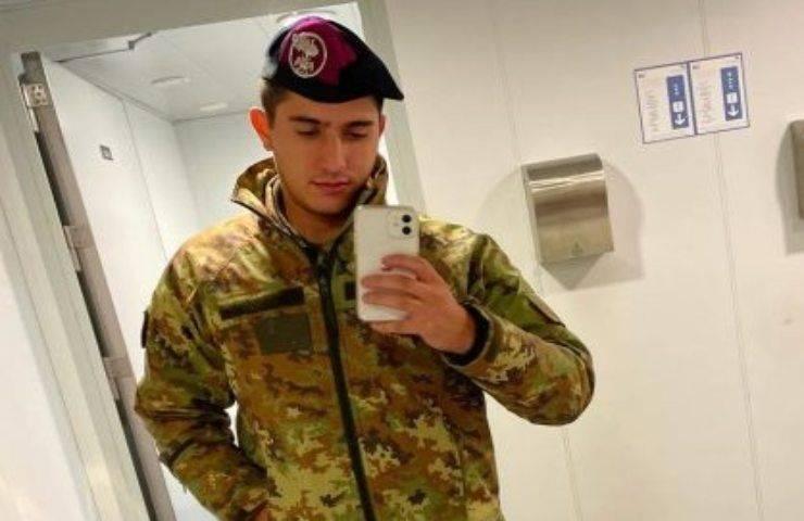 militare morto in incidente Foto dal web