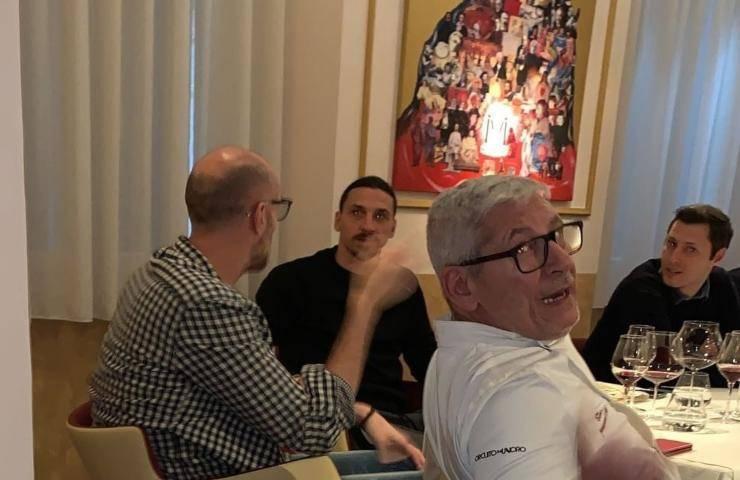 Ibrahimovic al ristorante in zona rossa