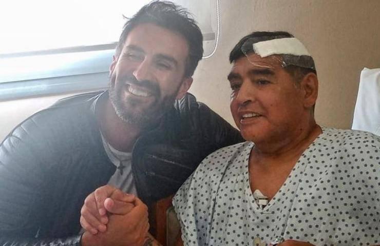 Maradona tre settimane prima della morte