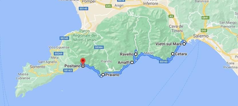 Itinerario della Costiera Amalfitana: