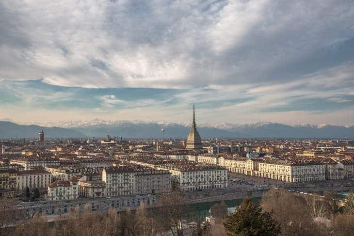 La vista dal quartiere Borgo po su Torino