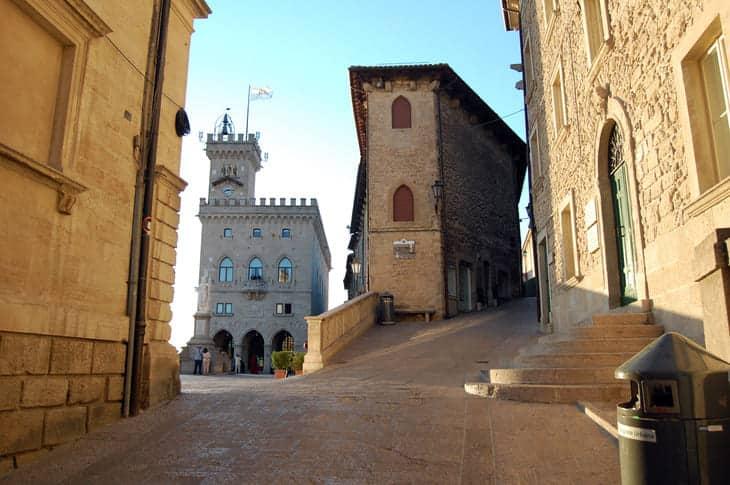 Piazza della Libertà a San Marino
