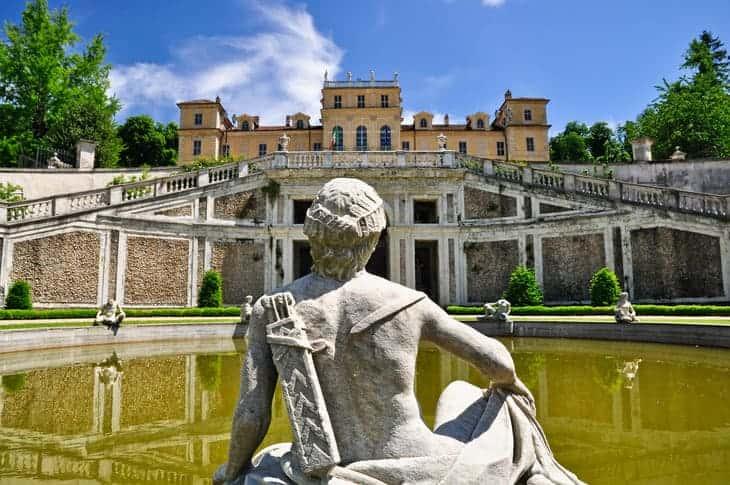 seicentesca Villa della Regina nel quartiere di Borgo Po a Torino