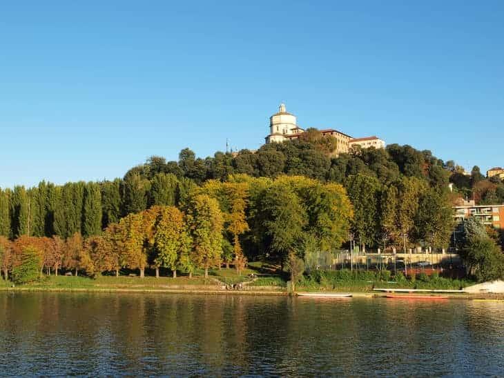 convento dei Cappuccini sul monte omonimo visto dal Po