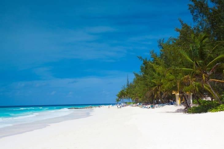 La spiaggia di Barbados,