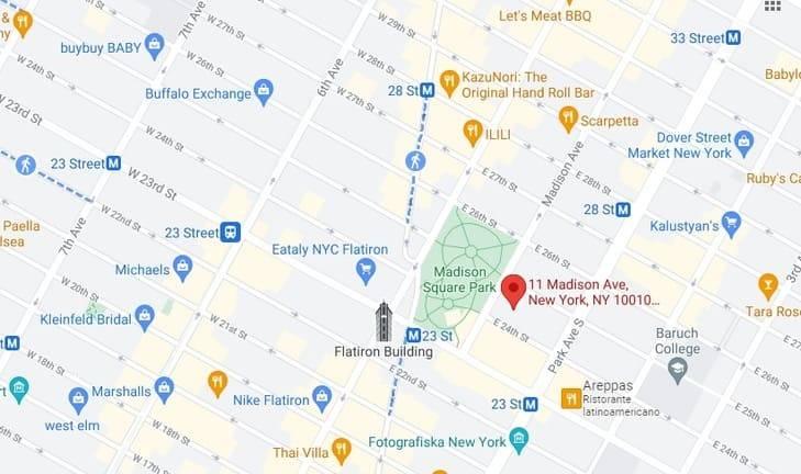 mappa ny ristorante eleven