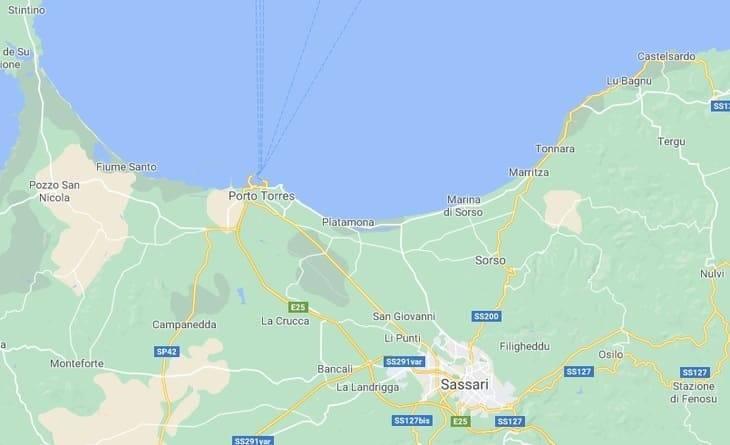 mappa di dove si trova spiaggia più lunga d'Italia