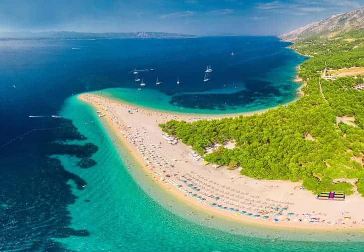 zlatni rat croazia spiaggia