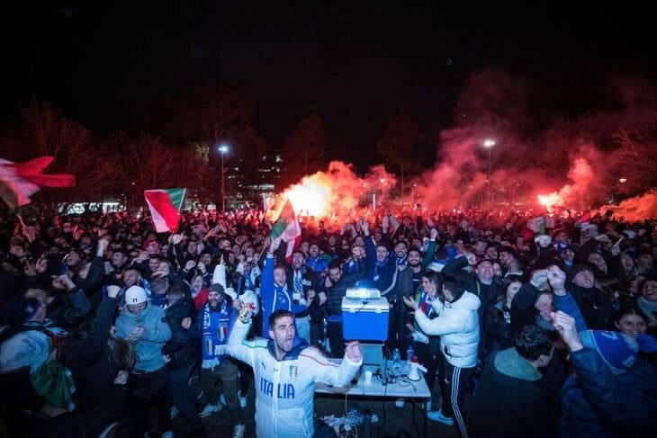 la festa per la vittoria dell'italia a melbourne