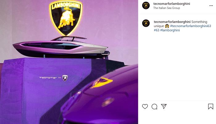 Il post su Instagram di Lamborghini for Tecnomar