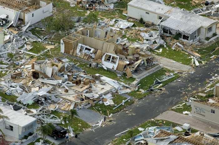 aree colpite dall'uragano