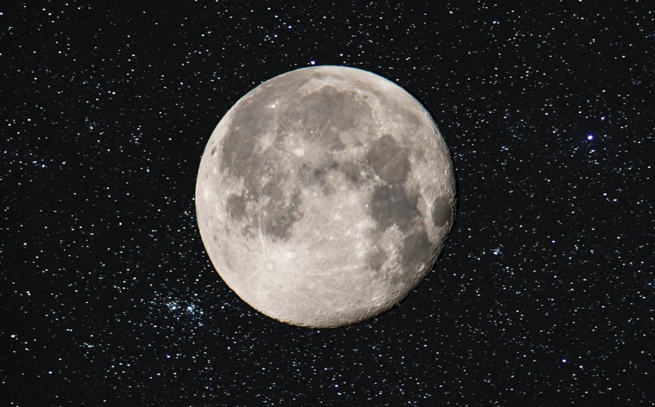 cielo notturno ottobre luna