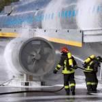 SIMULAZIONE INCIDENTE AEREO IN CORSO IN AEROPORTO FIUMICINO