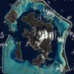 Satellite Photo Of Bora Bora