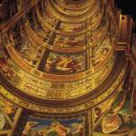 Monastery of El Escorial. Madrid. Fabulous murals of El Escorial library, founded by Philip II, houses a rare collection of more than 4,700 manuscripts, many of them illuminated, and 40,000 printed books..