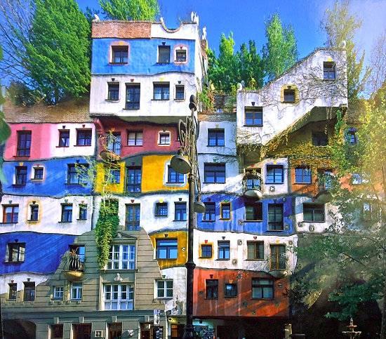 Guida vienna l 39 incredibile hundertwasser for Hundertwasser architektur