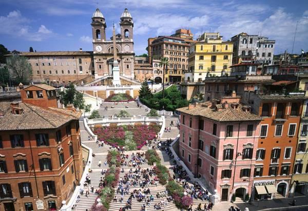 Trinità dei Monti Piazza di Spagna . Roma