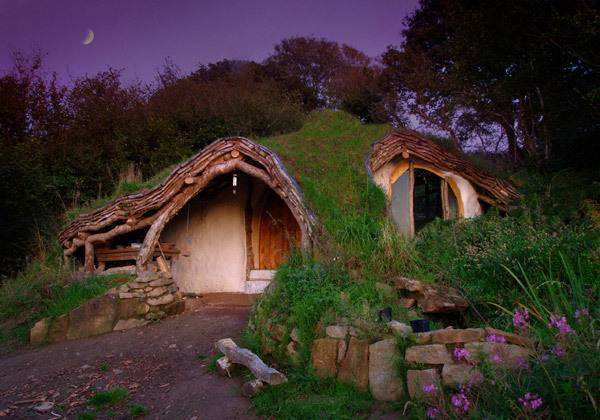 Low impact woodland house (Wales)
