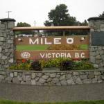 Insegna indicazione miglio zero della autostrada canadese coast to coast