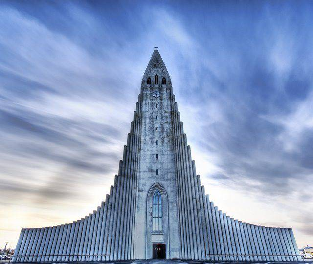 The Church of Hallgrimur, Reykjavik, Iceland,