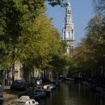 Canal view with Zuiderkerk (the southern church), Amsterdam