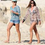 Stacy Keibler, Cindy Crawford e Rande Gerber in vacanza a Los Cabos, Messico.