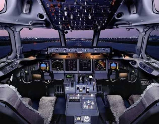 cabina di pilotaggio di un aereomobile