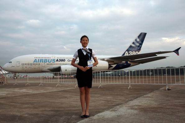 Hostess all'aeroporto in Cina