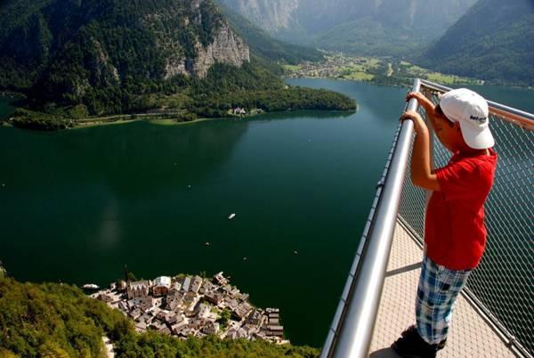 Lago Hallstatt piattaforma