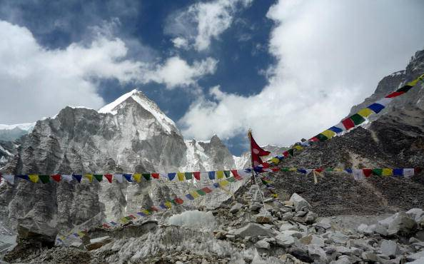 A general view from Everest Base Camp to