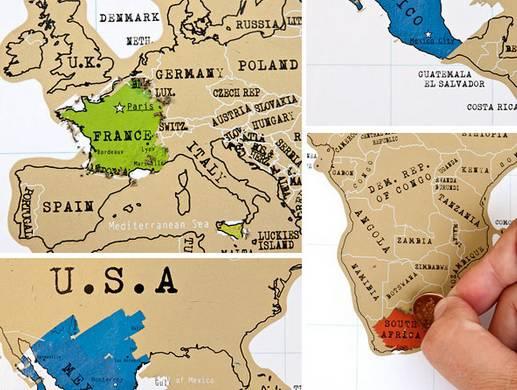 Cartina Mondo Che Si Gratta.La Cartina Geografica Diventa Un Gratta E Viaggia Viagginews Com