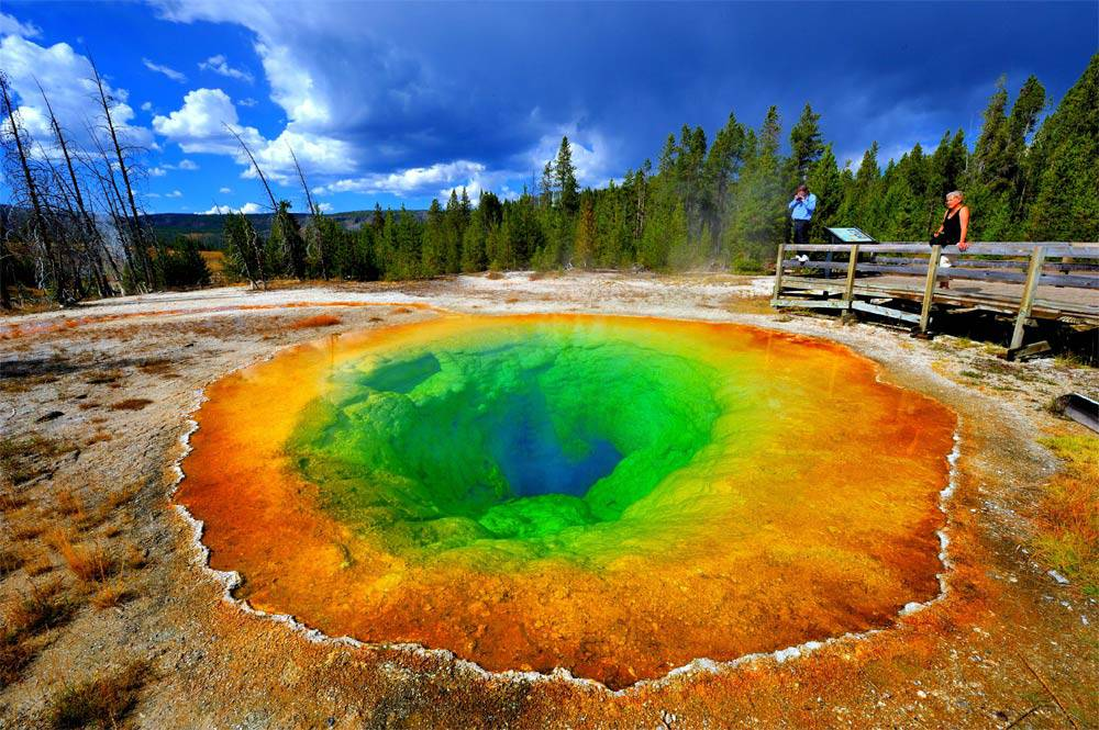 Morning Glory Pool Yellowston Park, USA