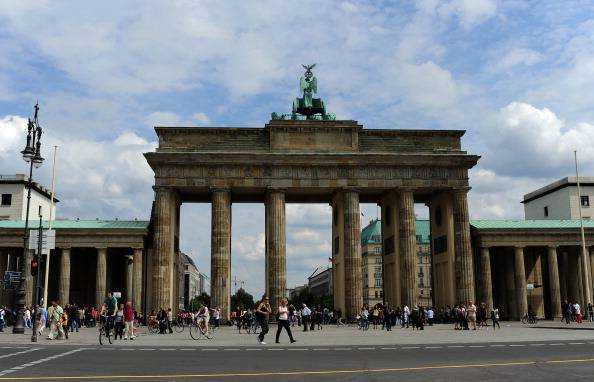 Berlin's landmark the Brandenburg Gate i