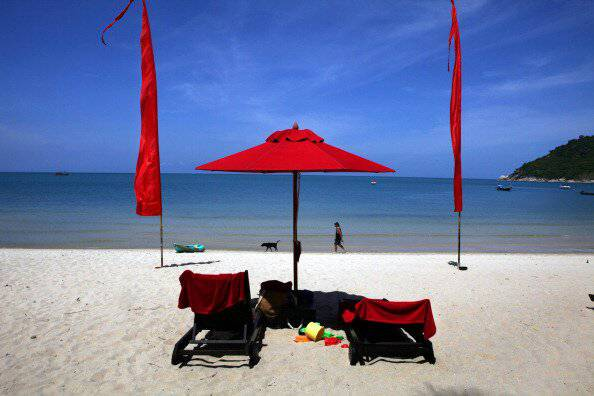 Una spiaggia della Thailandia